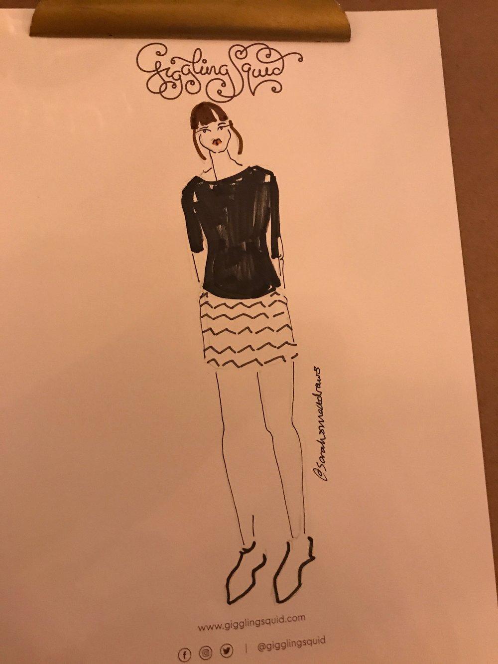 Live Fashion Illustration in Bath