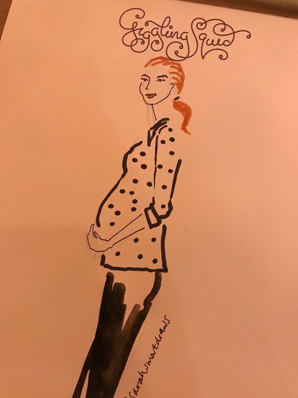 Live Illustration Pregnant lady