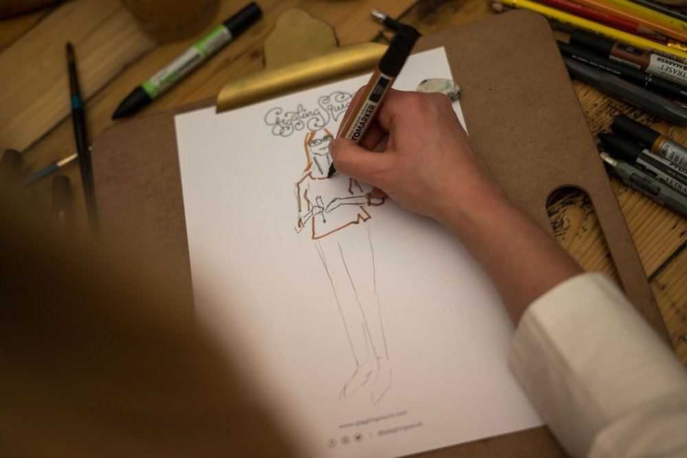 Live event illustrations at the Giggling Squid Launch in Bath. Photo by Ferla Paolo Photography