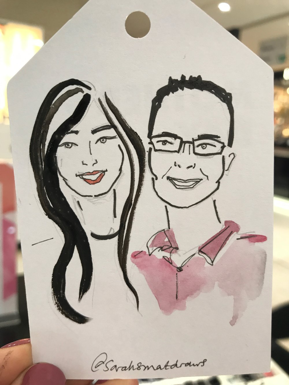 Selfridges Live Drawing Event, Mother's Day with Sarah Smart