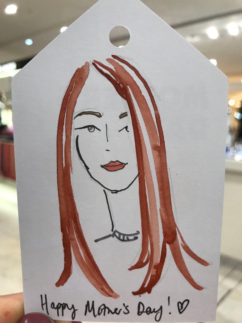Bespoke Mother Illustration, Sarah Smart, Selfridges