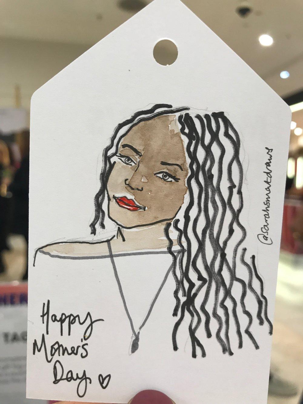 Bespoke Mother's Day Illustration, Sarah Smart at Selfridges