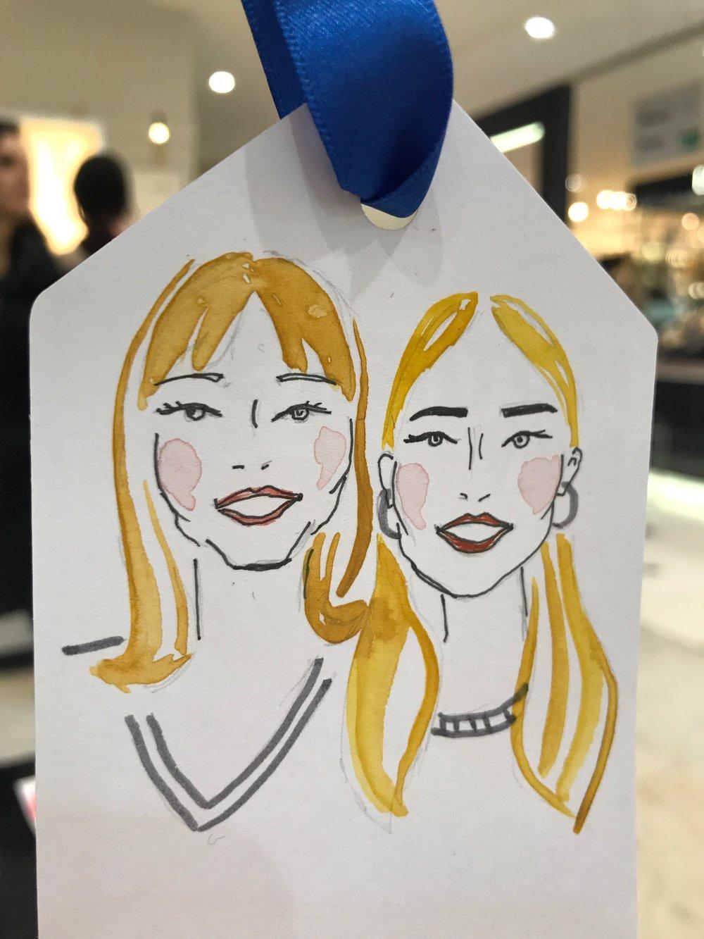 Bespoke Mother and Daughter Illustration, Sarah Smart at Selfridges