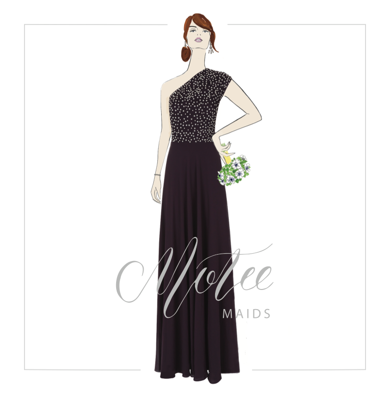 Motee Maids Bridesmaid Dress illustration