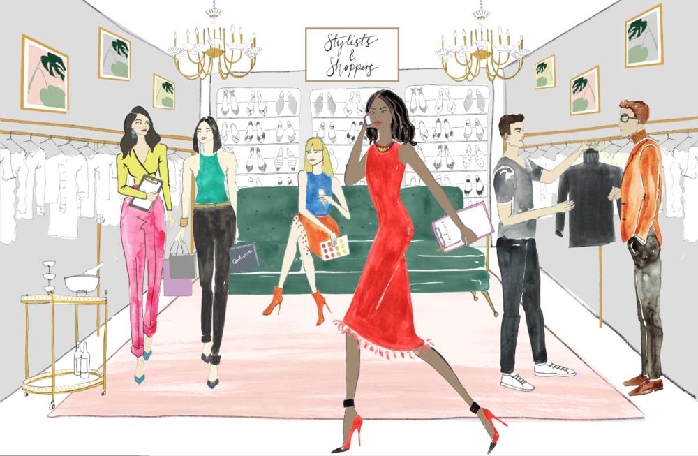 Fashion Stylist Illustration