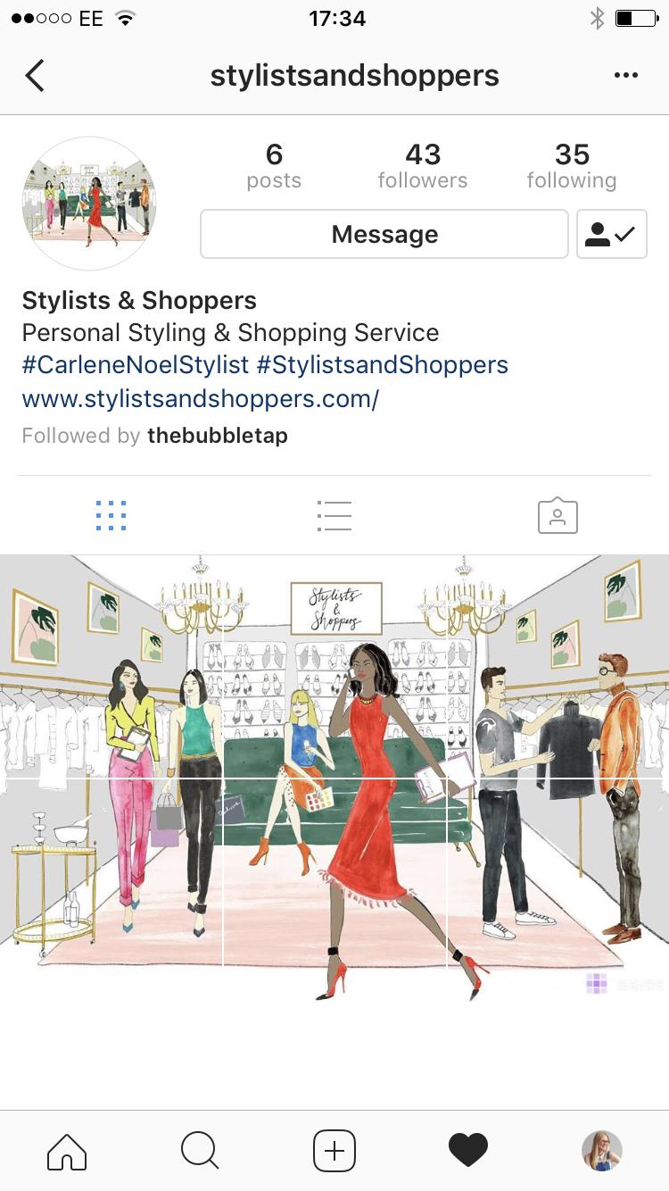 Fashion Illustration for Social Media Grid