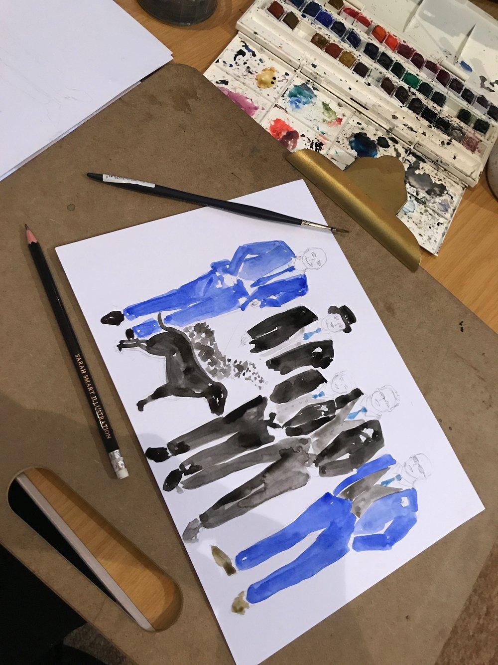 Groomsmen Illustration