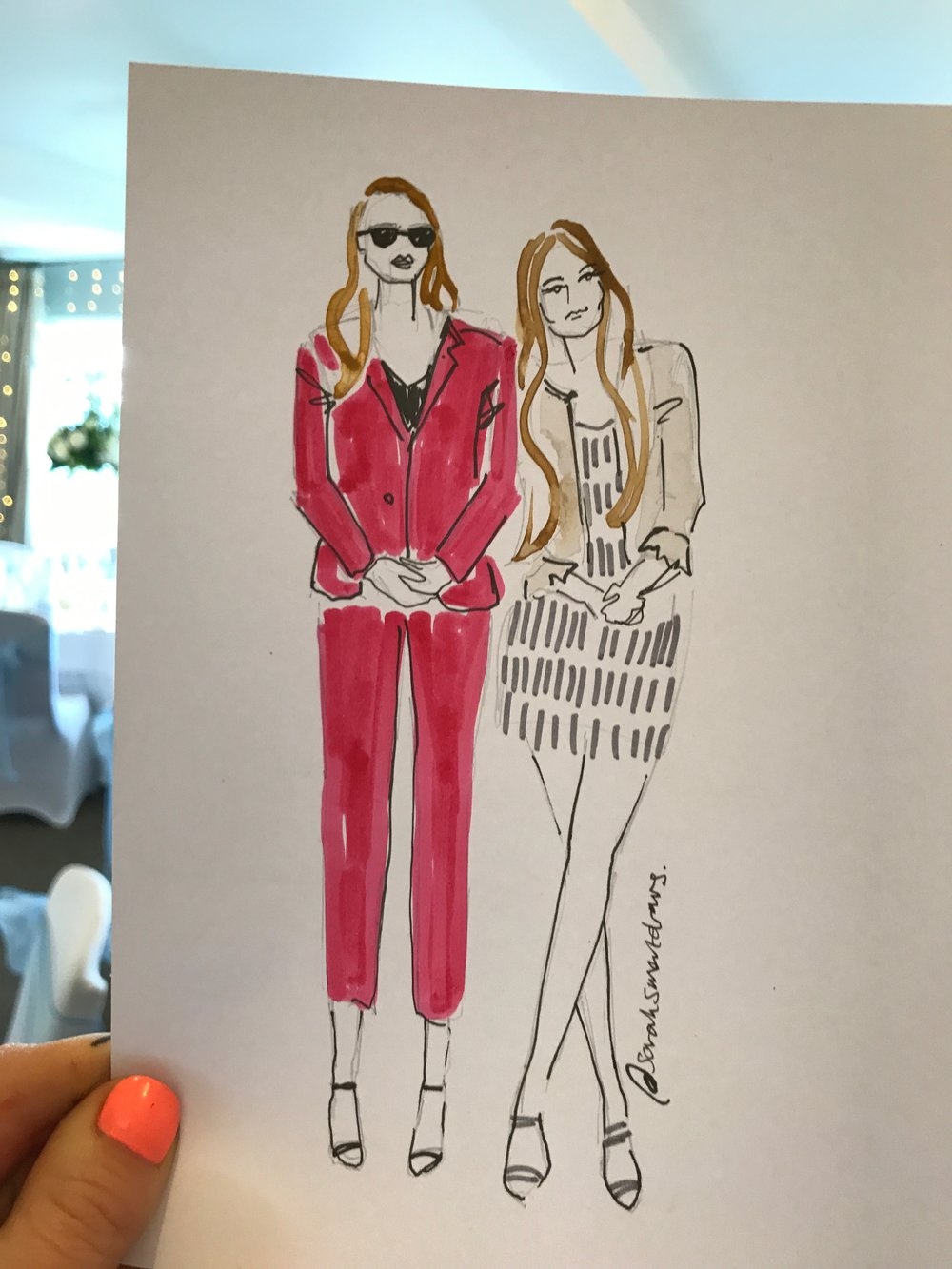 Wedding Guest Fashion Illustration
