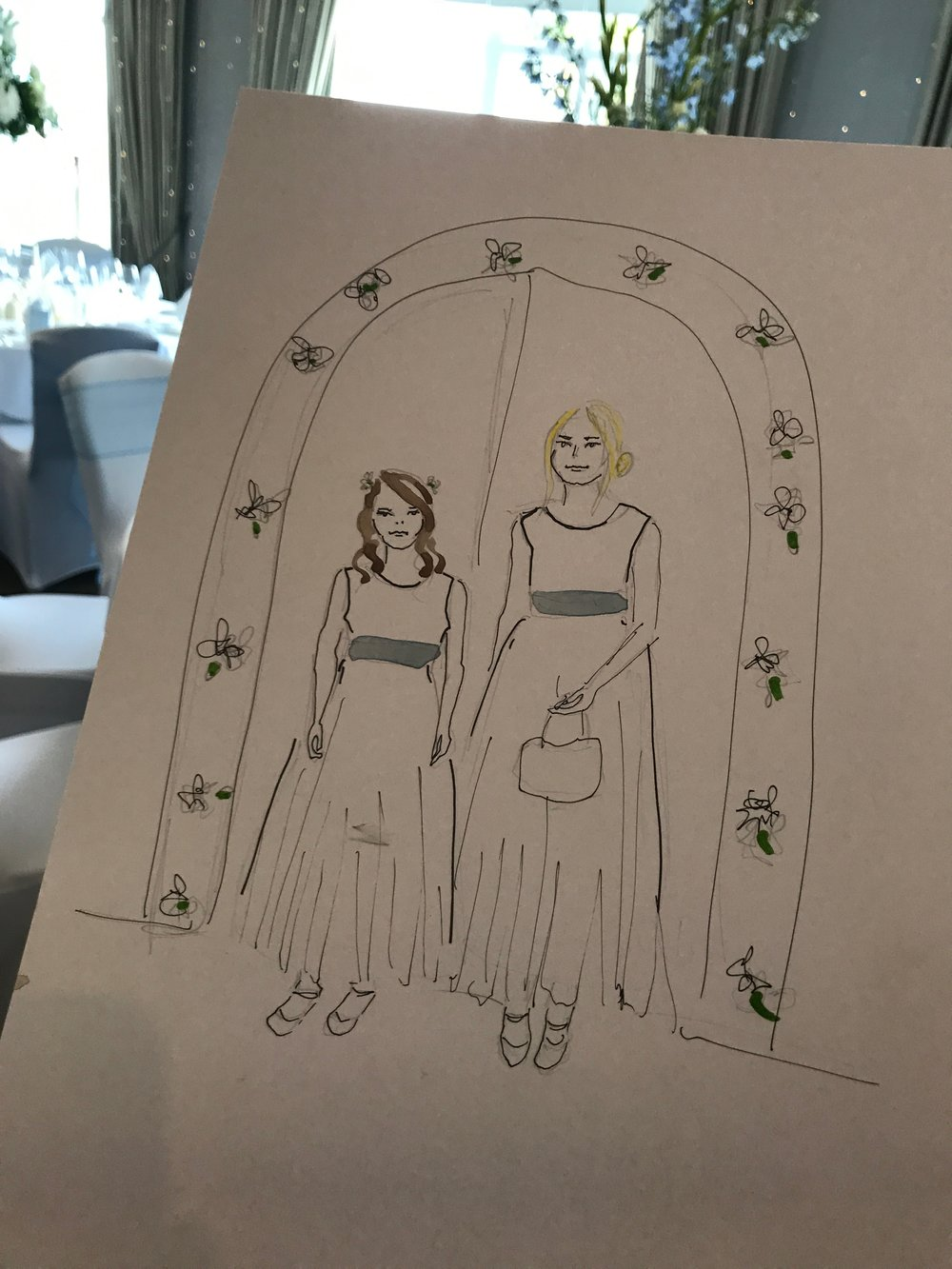 Bridesmaid Illustration