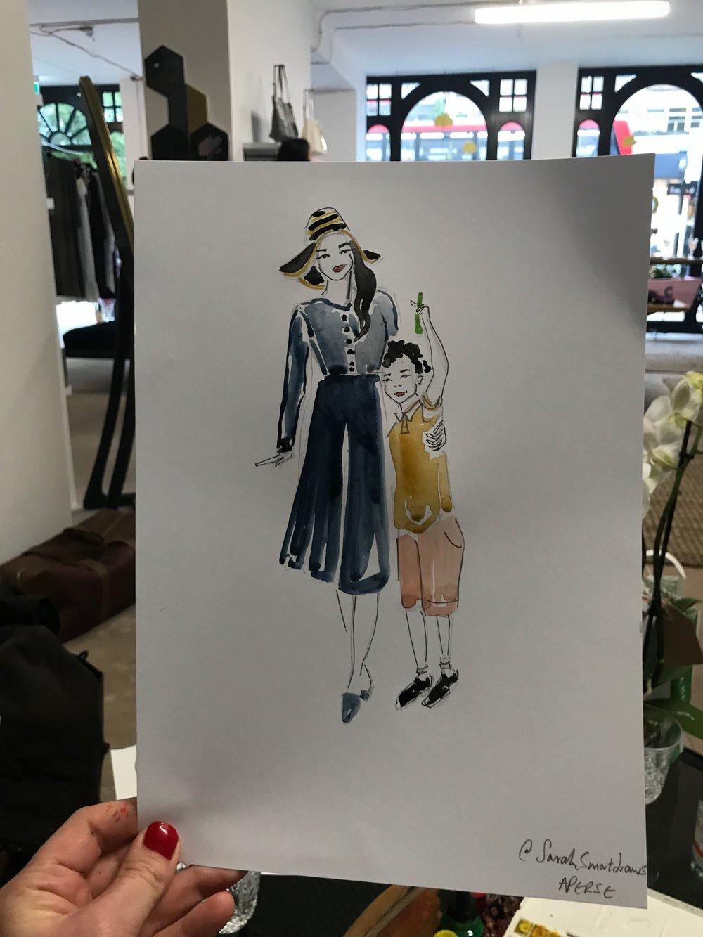 Aperse Live Fashion Illustration