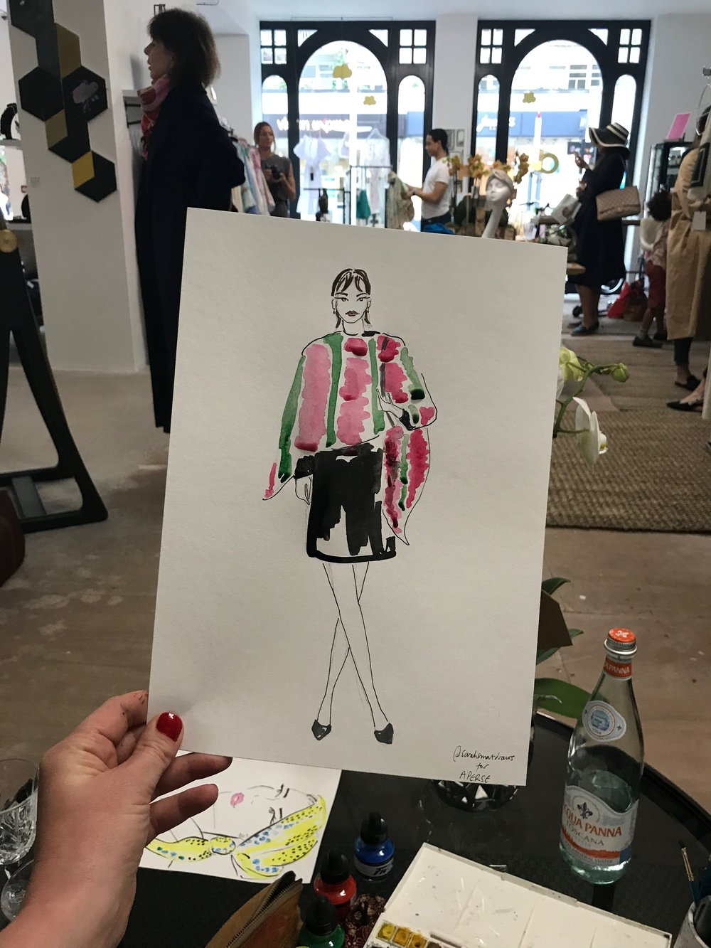 Aperse Live Fashion Illustration at The Cloud Boutique
