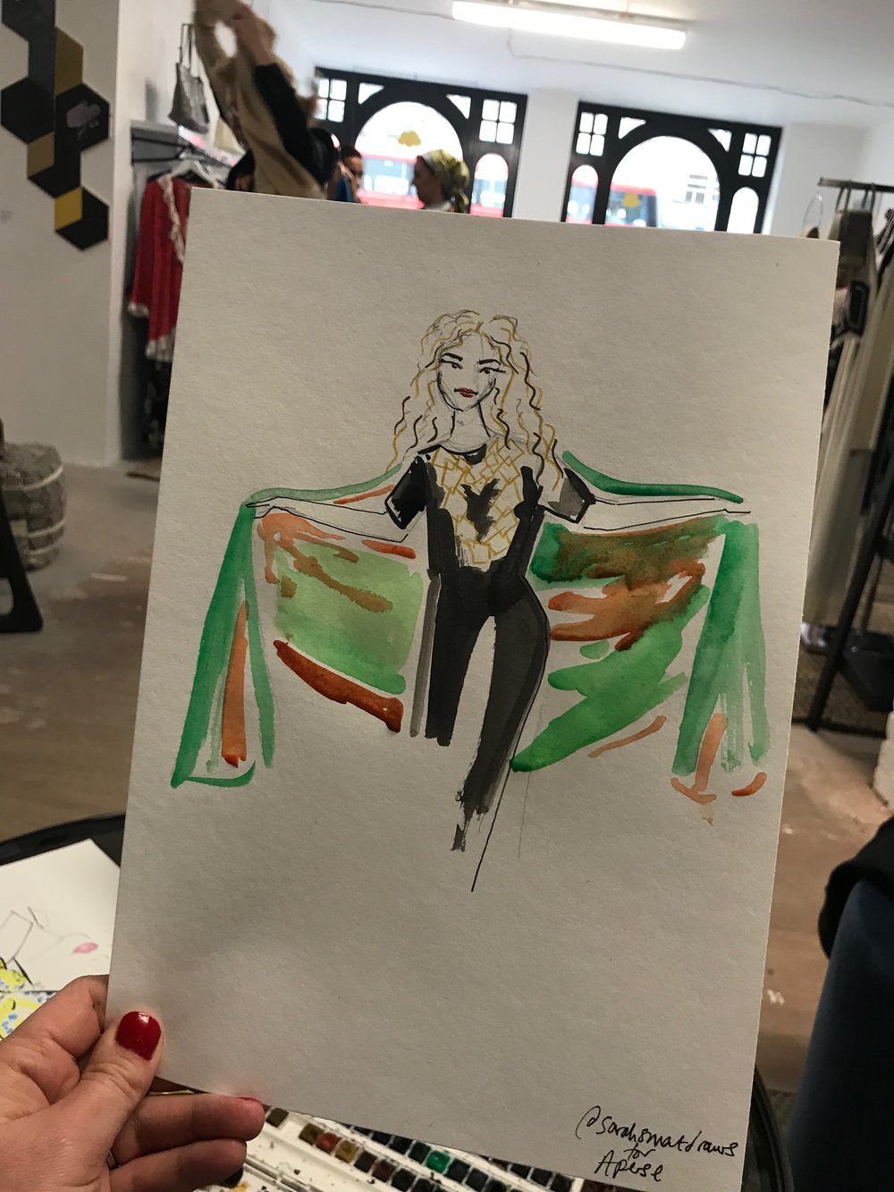 Live Fashion Illustration for Aperse