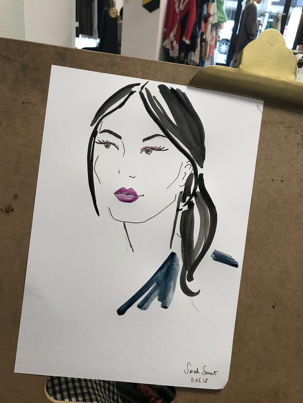 Live Fashion Illustration Portrait