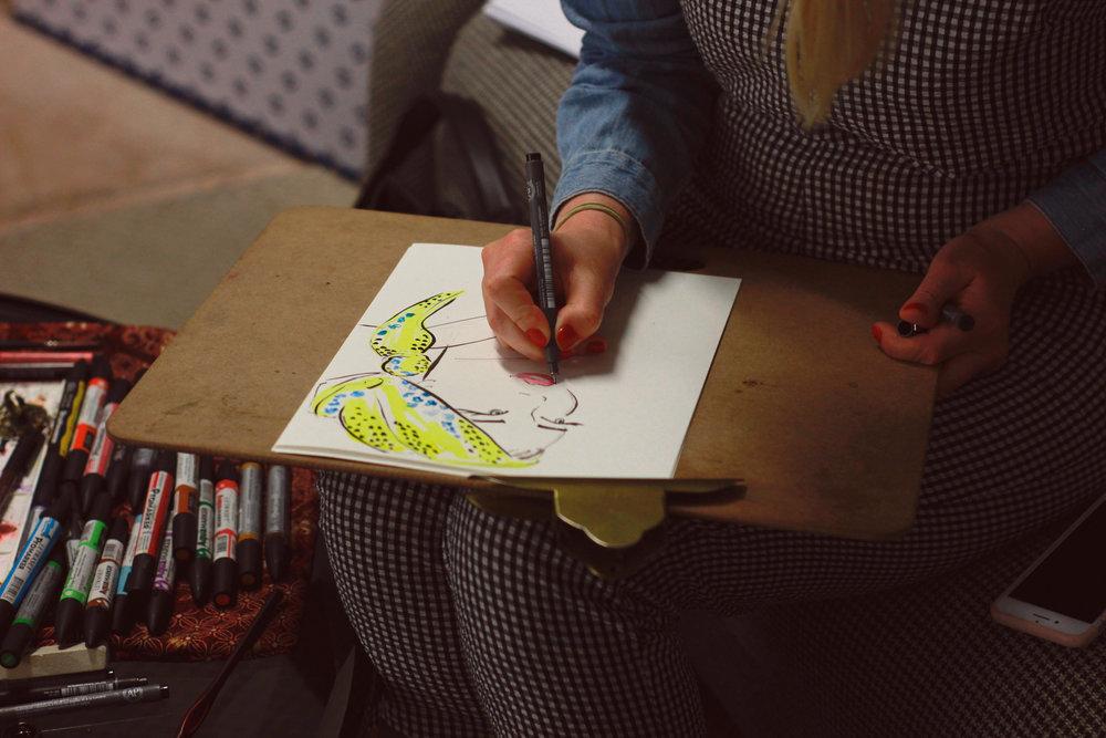 Event Illustrator. Pics by Christina Exarchou