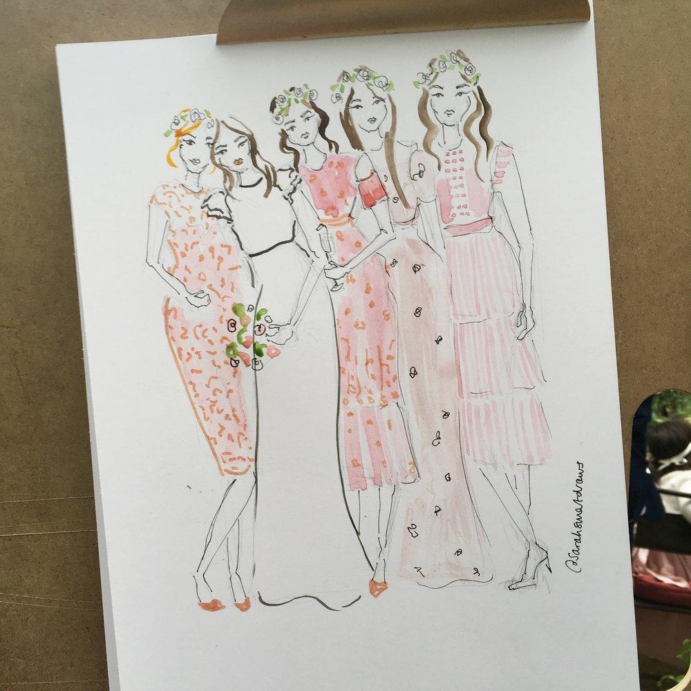 Bridesmaid illustration