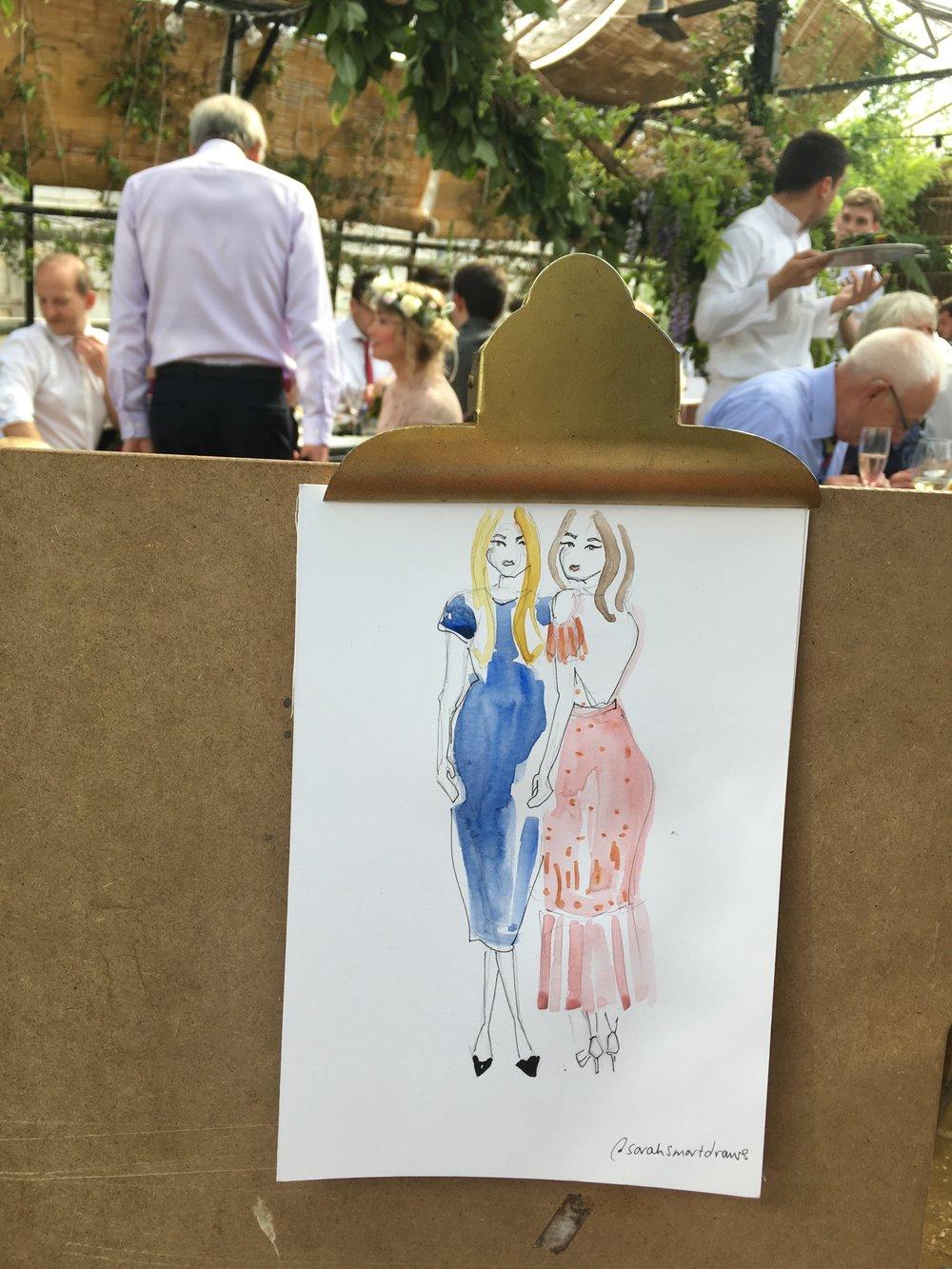 Live wedding illustrator