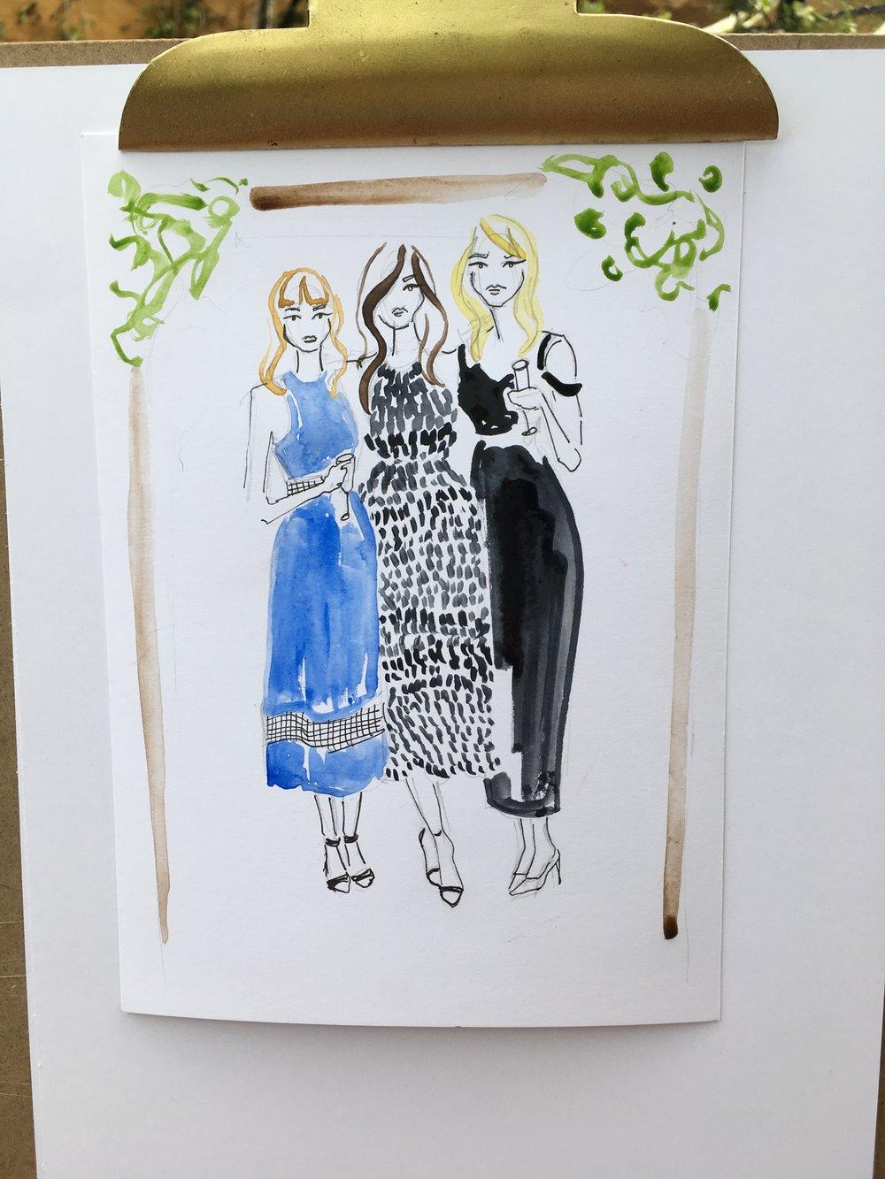 Wedding Guest Fashion Illustration