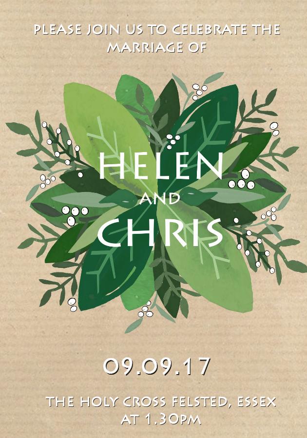 Wedding Stationery Illustration