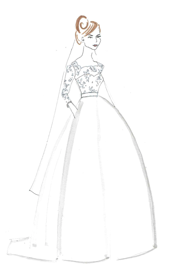 Bride Fashion Sketch