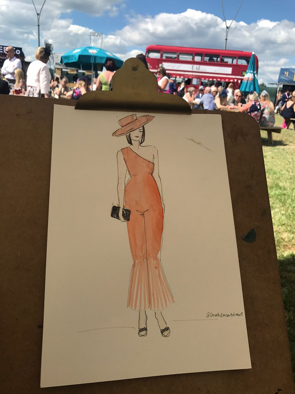 Ladies Day Fashion Illustration