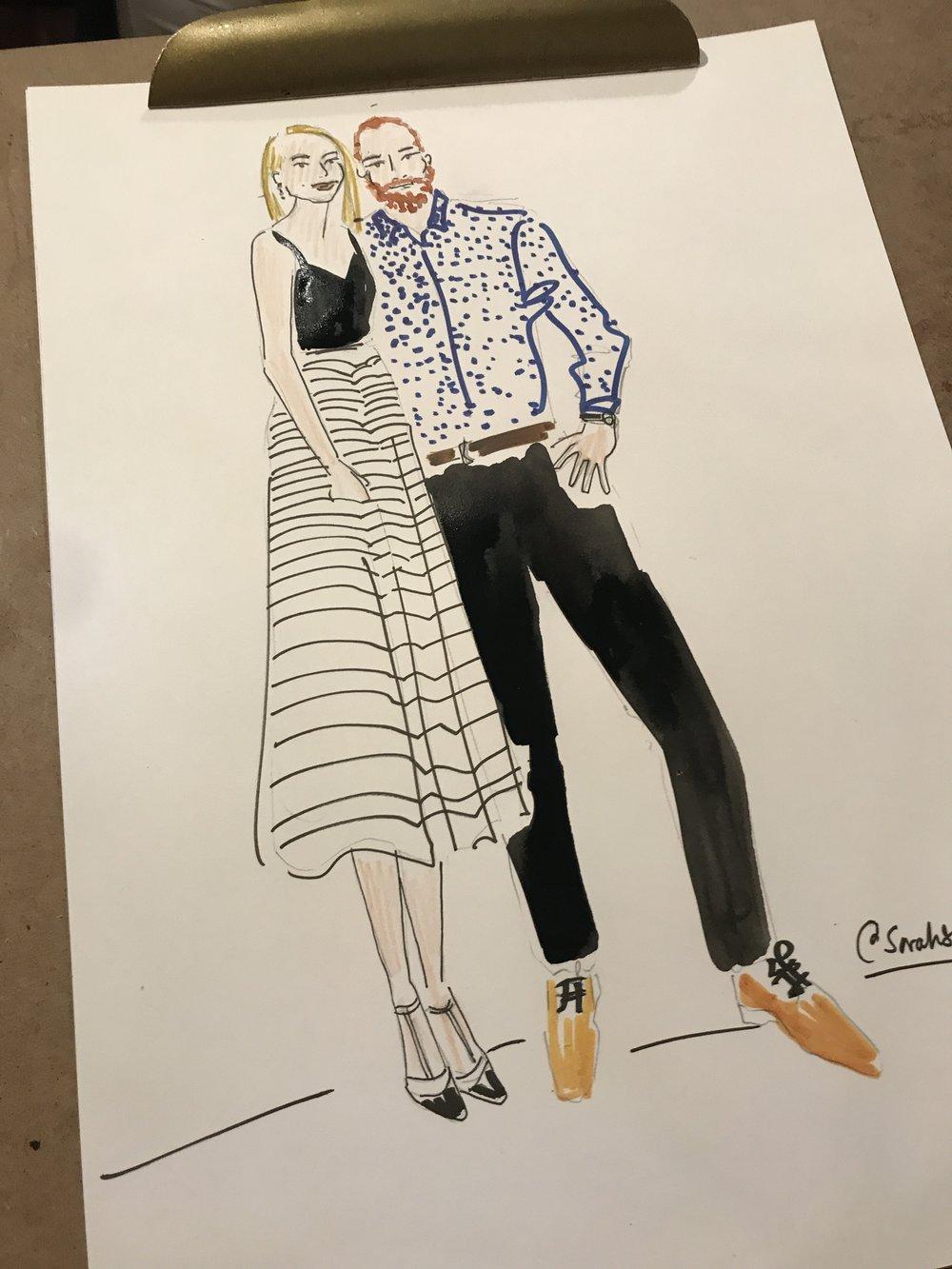 Couples Portrait Illustration