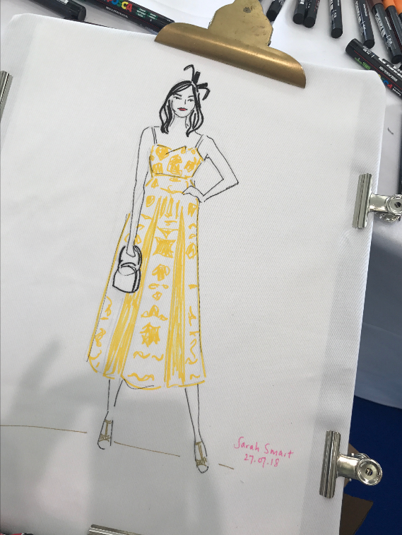 Ascot Races Live Fashion Illustration