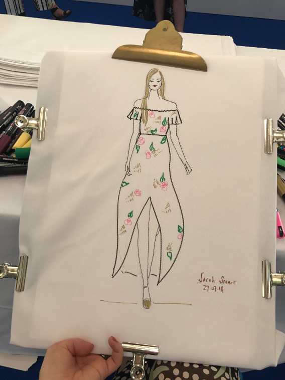 Live Fashion Illustration, Ascot Races