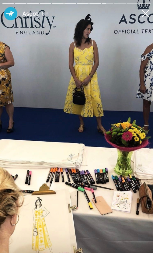 Live Fashion Illustrator, Ascot Races