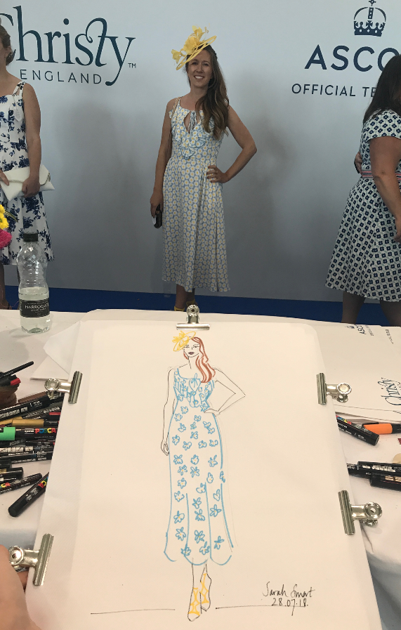 Live Fashion Illustration Event, Ascot Races