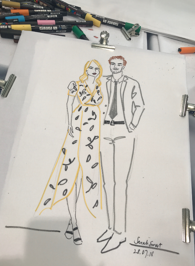 Couples Portrait Fashion Illustration