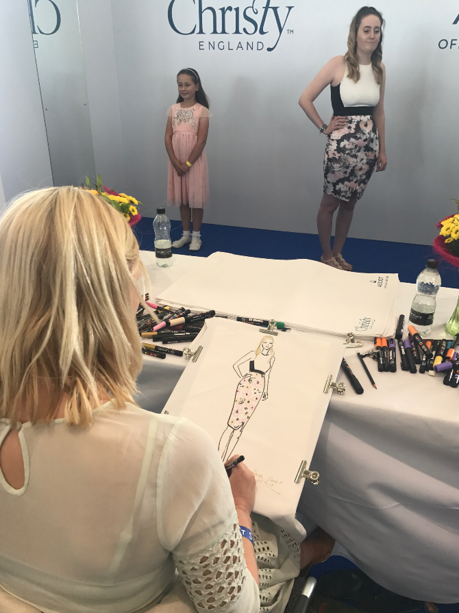 Live fashion illustrator Sarah Smart Draws