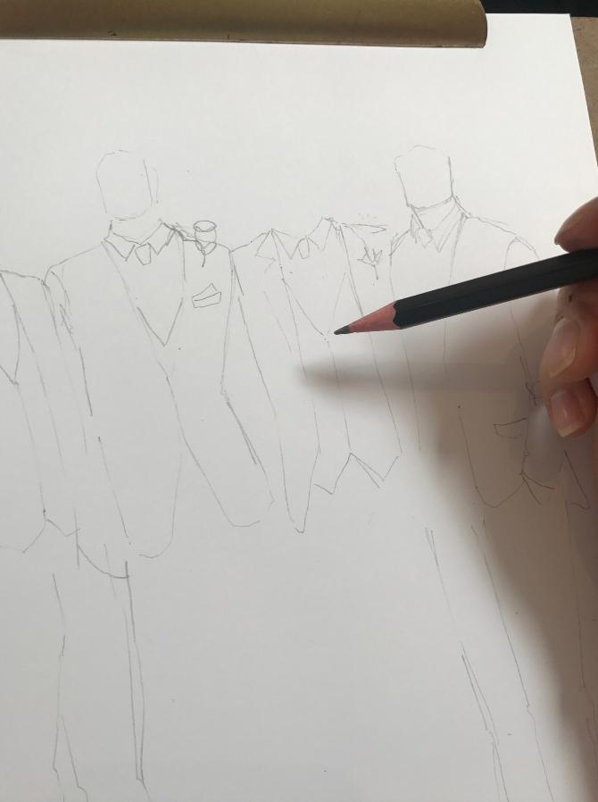 Groomsmen Fashion Illustration