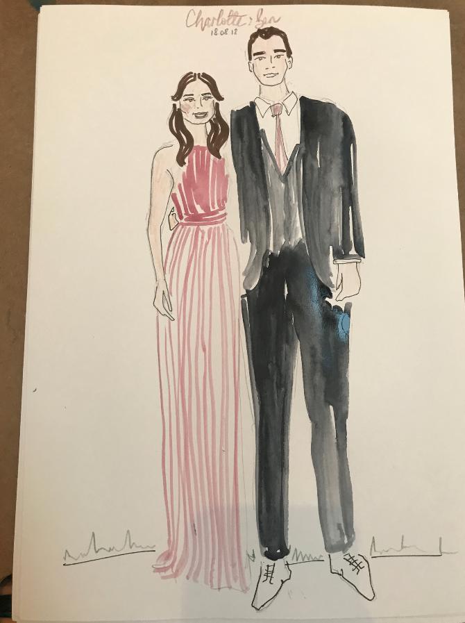 Wedding Guest Live Fashion Illustration