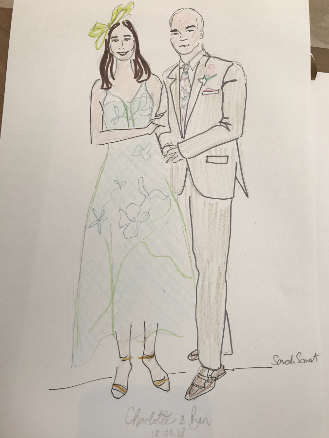 Mother and Father Of The Bride Fashion Illustration