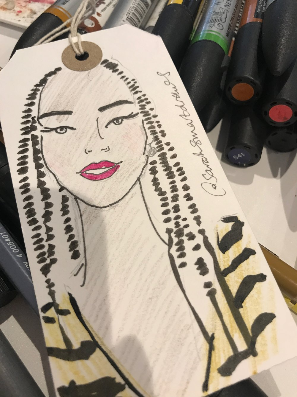 Live fashion illustration at The Fashion Retail Academy