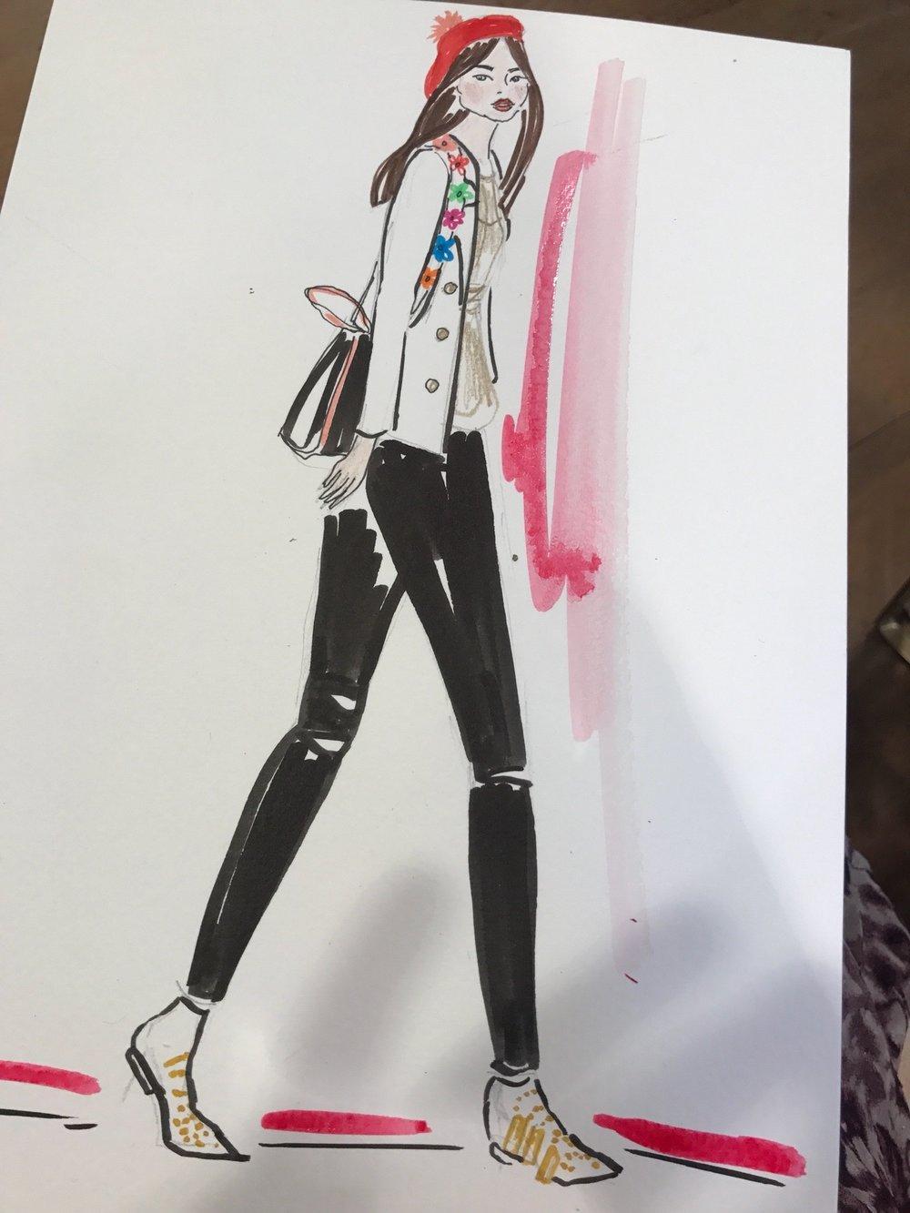 Anthropologie Fashion Illustration