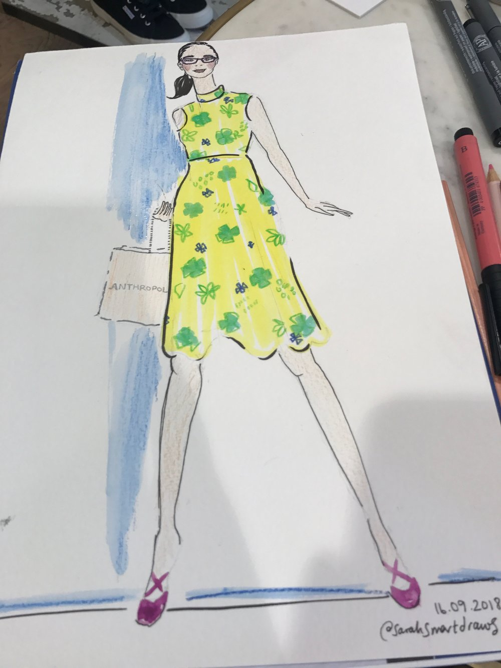 Live Fashion Illustration Anthropologie
