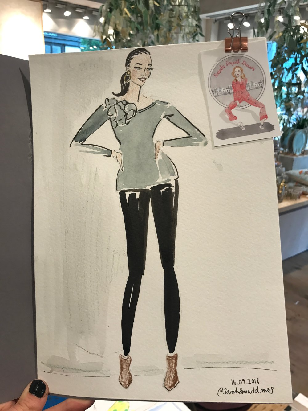 Fashion Illustration, Anthropologie Spitalfields