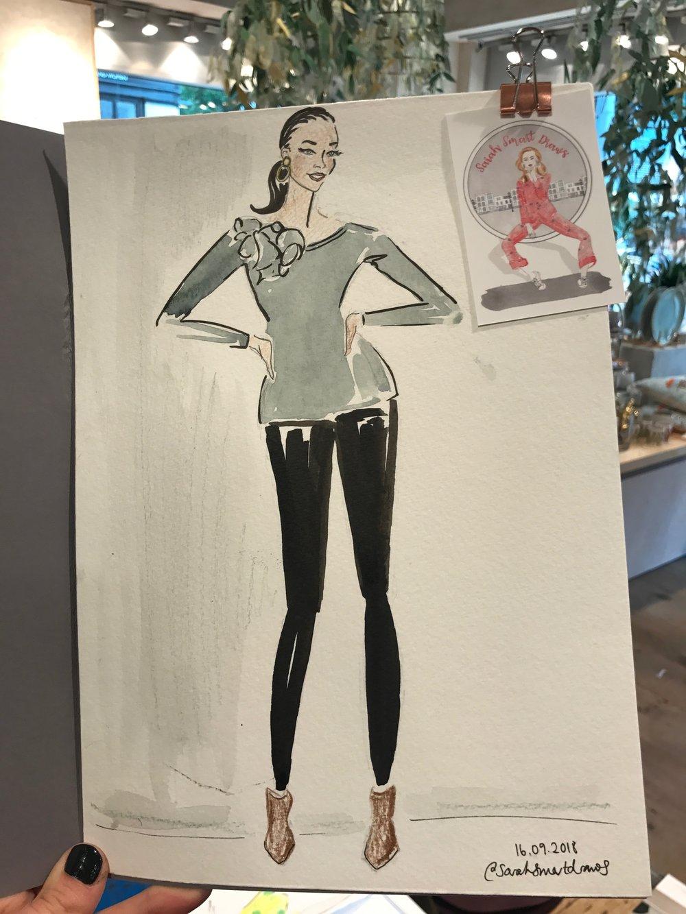 Fashion Illustration, Anthropologie Spitalfields