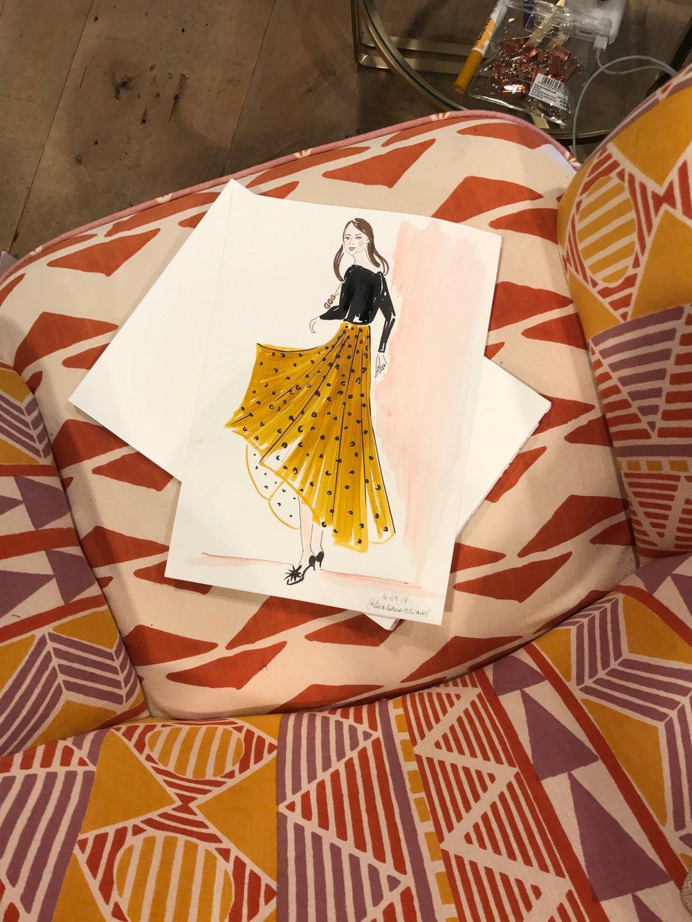Live Fashion Illustration, Anthropologie Spitalfields
