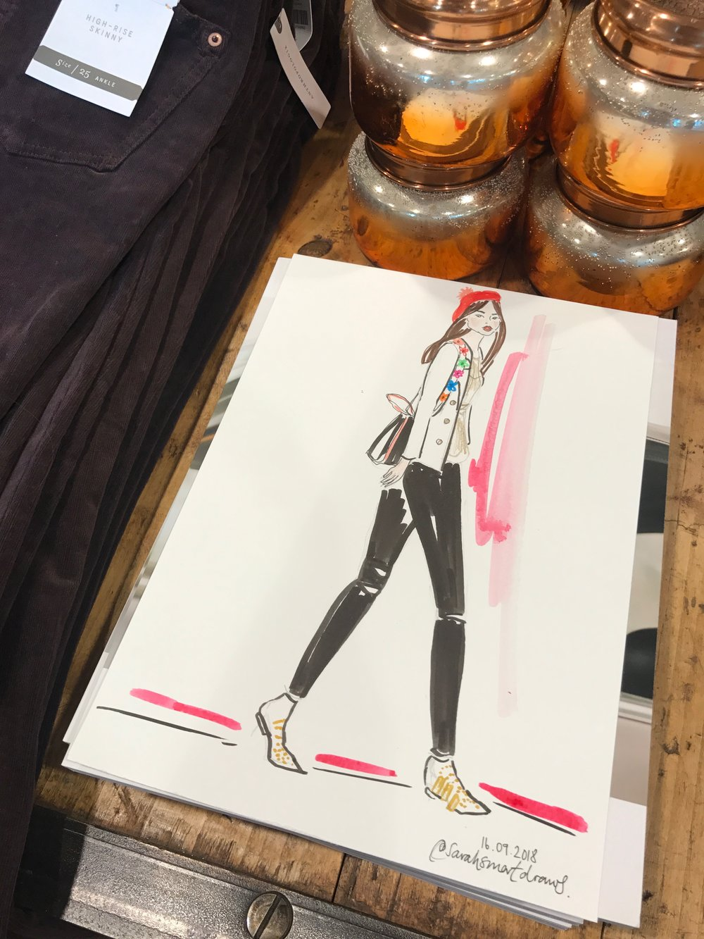 Live Fashion Illustration, Anthropologie Spitalfields