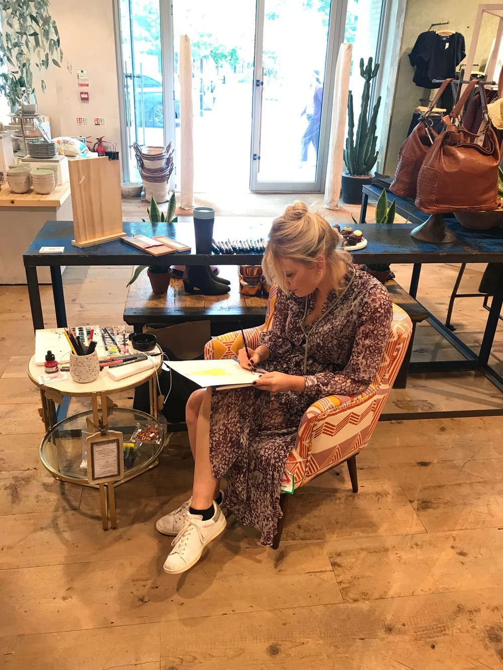 Live Fashion Illustrator, Anthropologie London
