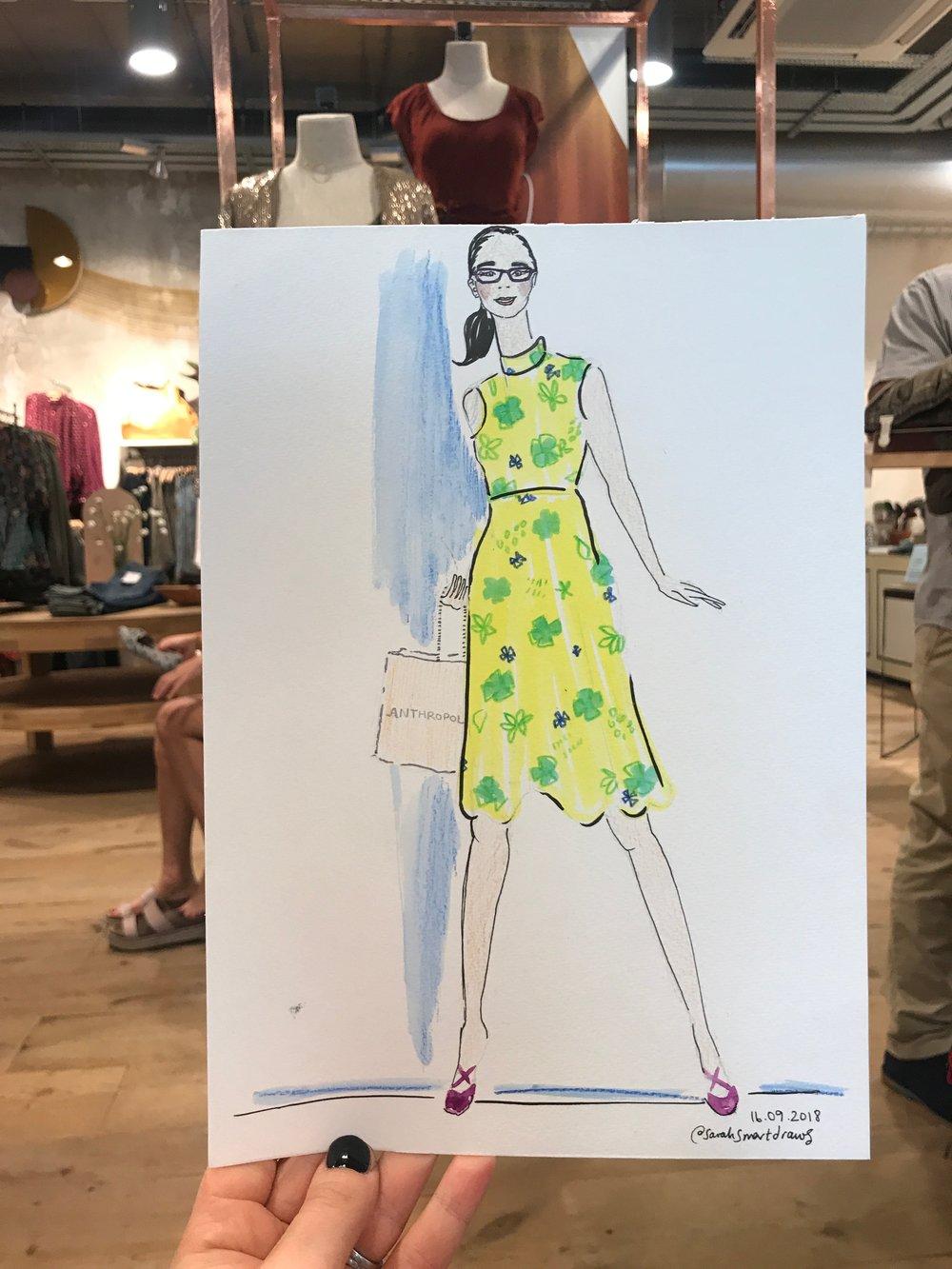 Live Fashion Illustration, Anthropologie London