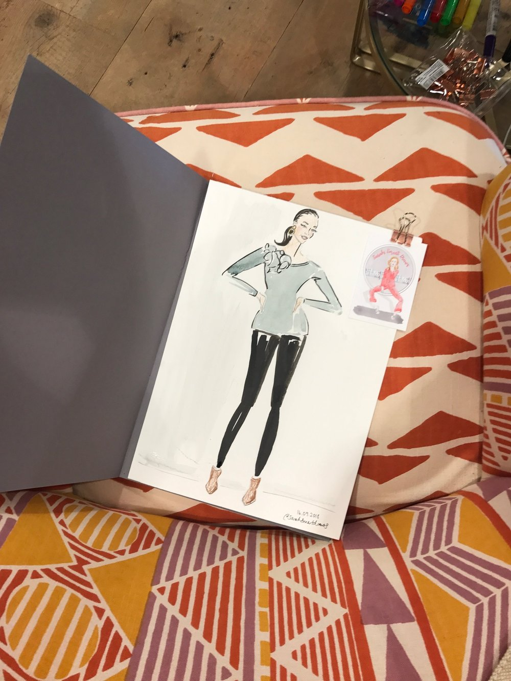 Live Fashion Illustration, Anthropologie London