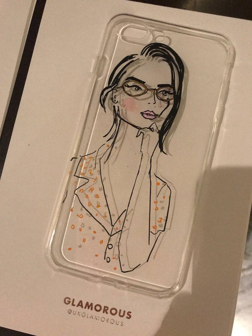 Fashion Portrait on phone case