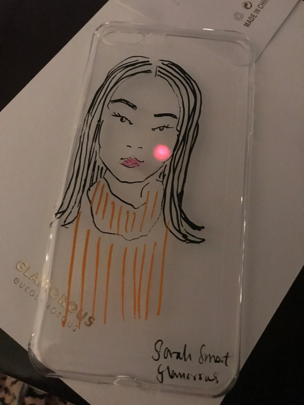 Glamorous AW18 Launch Party Illustration