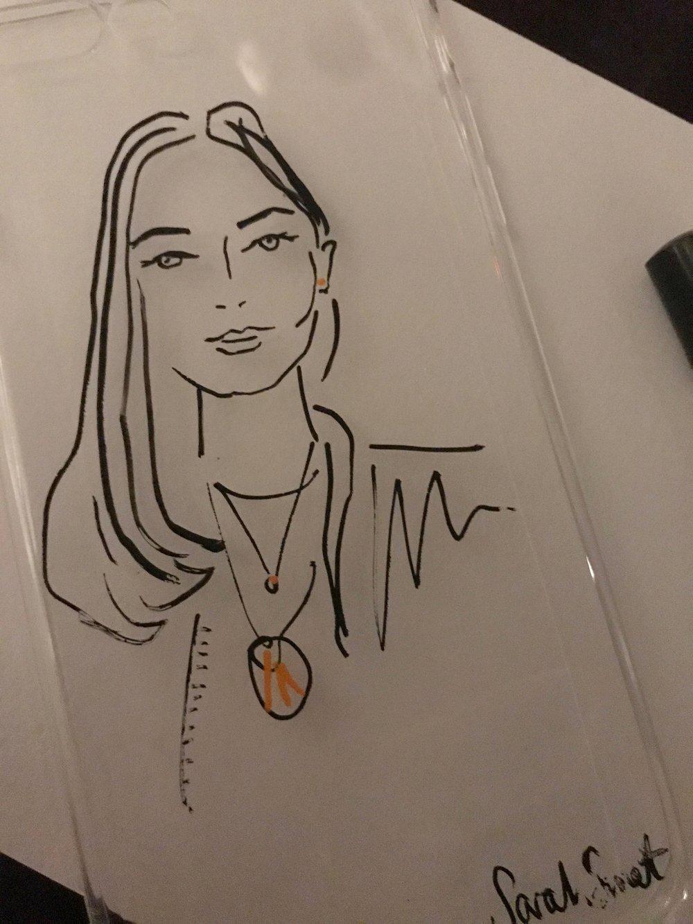 Live Fashion Portraits on Phone Cases