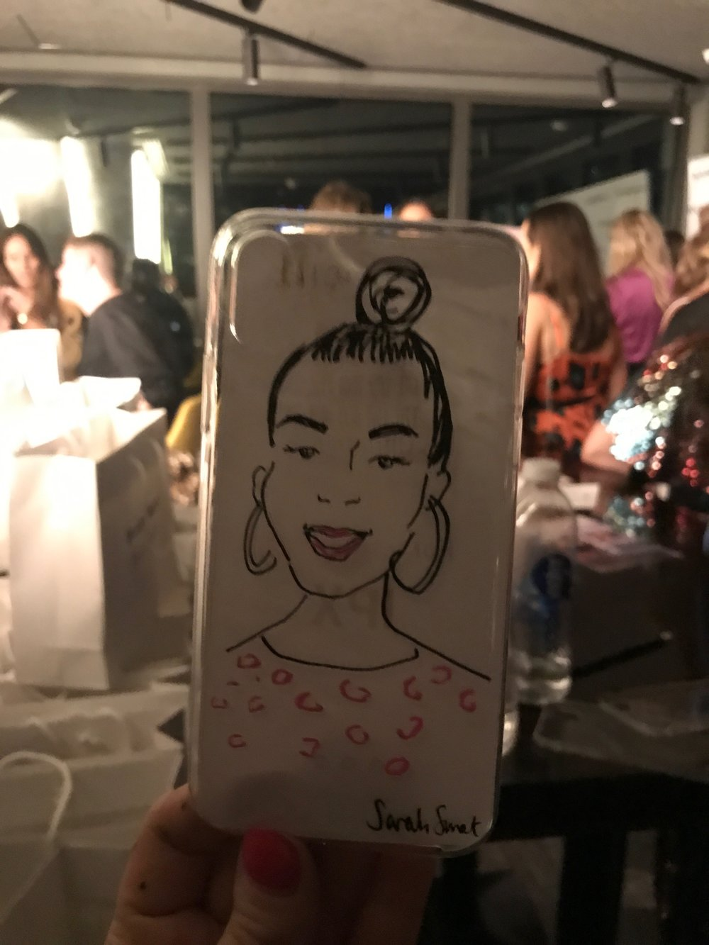 Live Fashion Portraits on Phone Cases