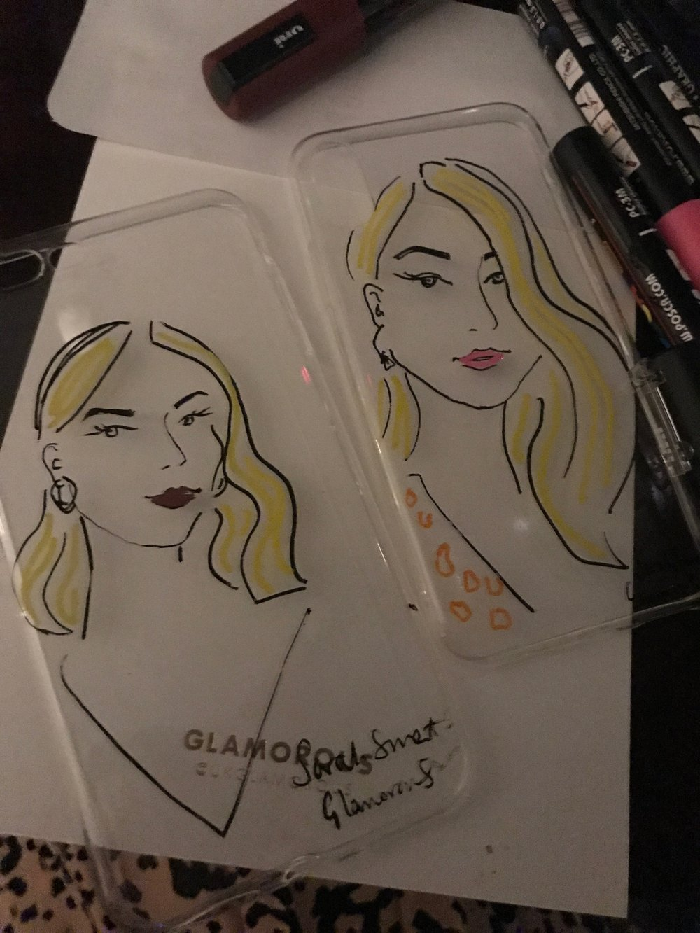 Glamorous AW18 Launch Party Illustrator
