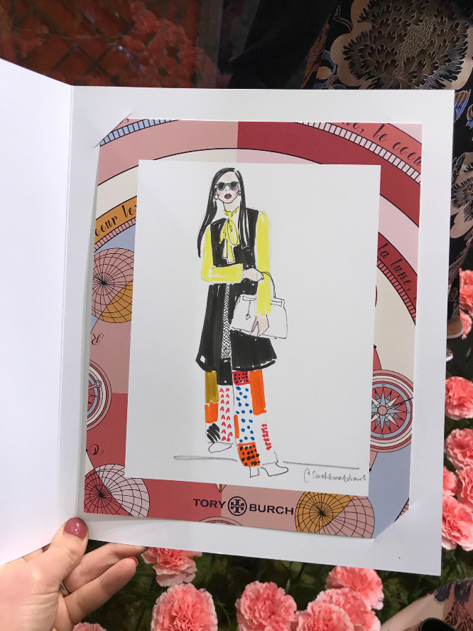 Tory Burch Fashion Illustration